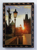Souvenir magnet. Prague. — Stock Photo