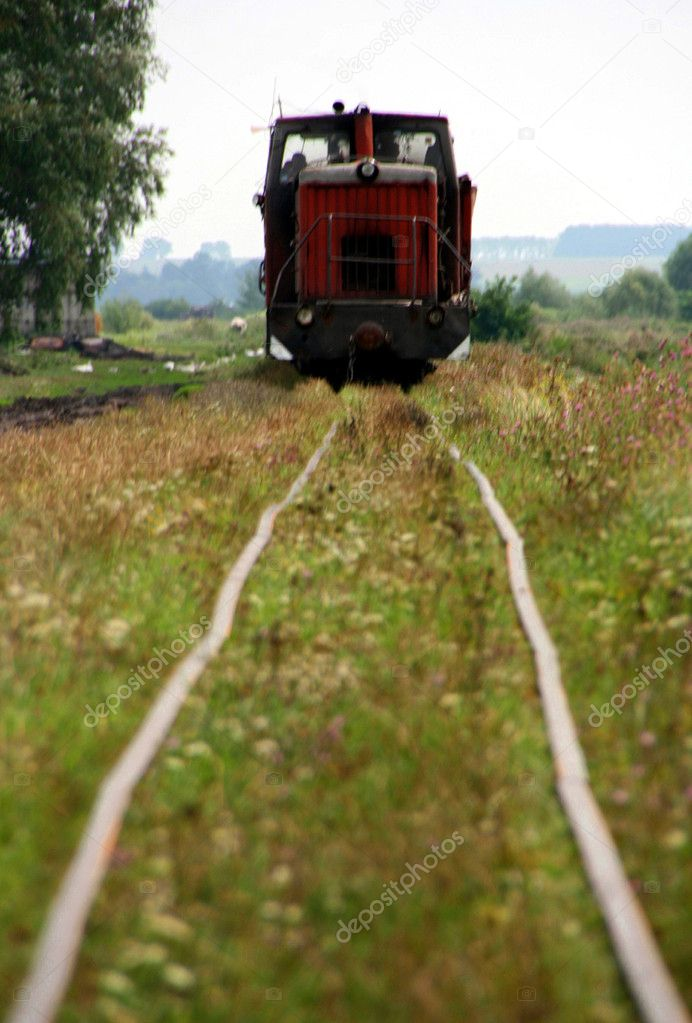 The narrow-gauge railway — Stock Photo #1822346