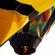 Stock Photo: Hot air balloon being inflated