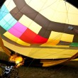 Hot air balloon inflation with flames — Stock Photo #1022458