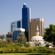 Stockfoto: Mosque in front of office in Abu Dhabi
