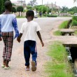 African boys on roadside - Photo