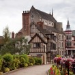 图库照片: Old medieval houses in Shrewsbury