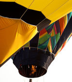 Hot air balloon being inflated — Stok fotoğraf