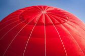 Hot air balloon - red — Stock Photo