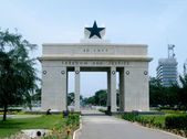 Freedom and Justice Arch in Accra in Gha — Stock Photo