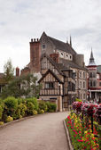 Vecchie case medievali a shrewsbury — Foto Stock