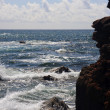 Rocky headland and raging ocean — Stock Photo