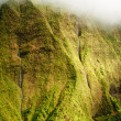 Kauai Mt. Waialeale waterfalls in rain — 图库照片