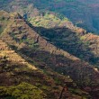 Craggy rocks in Waimea Canyon — Stock Photo