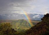 Rainbow over Waimea Canyon on Kauai — Stock Photo