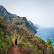 Royalty-Free Stock Photo: Female Hikers on Kalalau Trail Kauai