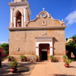 Front view of El Quelite Church in Mexic — Stock Photo