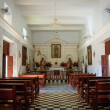 Interior of El Quelite Church in Mexico - Stock Photo