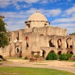 San Juan Mission in Texas - Stock Photo
