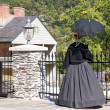 Lady in period costume — Photo