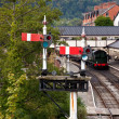 Royalty-Free Stock Photo: Llangollen station in Wales with the sem