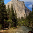 Slow motion river in front of El Capitan — Stock Photo #1148343