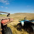 Stock fotografie: ATV quad bikes on Snowdonimountain