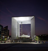 La Grande Arche in La Defense in Paris a — Stock Photo