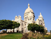 View up towards the Sacre Coeur Cathedra — Stock Photo