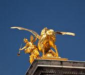 Необычные выстрел в задней части Золотой конь — Стоковое фото