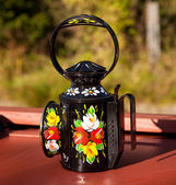 Hand painted traditional decorated oil l — Stock Photo