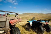 ATV quad bikes on Snowdonia mountain — Stock Photo