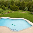 Overview of luxury pool — Stock Photo