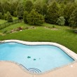 Overview of luxury pool — Stok fotoğraf