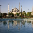 Royalty-Free Stock Photo: Blue Mosque Domes framed by pond