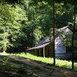 图库照片: Log Cabin in Smoky Mountains