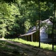Стоковое фото: Log Cabin in Smoky Mountains