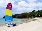 Catamaran on beach — Stock Photo