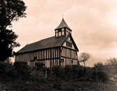 Melverley Church on stormy day — Stock Photo