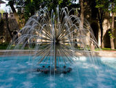 Modern Fountain in Istanbul Gardens — Stock Photo
