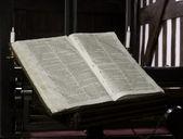 Ancient Church Bible — Stock Photo