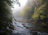 Rural River in early fall — Stok fotoğraf