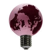 レッド グローブ電球として — ストック写真