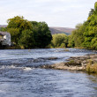 Wide river scene in Wales — Stock Photo