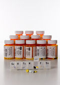 Vertical prescription drugs — Stock Photo
