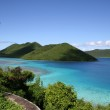 View of green islands of the coast of St — Stock Photo #1275443