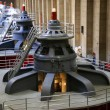 Turbines inside Hoover Dam in Arizona - Stock Photo