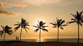 Couple and Hawaii Sunset — Stock Photo