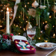 Sherry and cookies for santa - Stock Photo