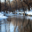 Small snow lined stream — Stock Photo #1497831