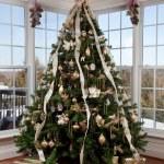 Christmas tree in the corner — Stock Photo