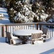 Stock Photo: Snowy modern deck
