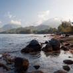 View across Hanalei Bay — Stock Photo