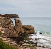 Rocky formations by sea on Kauai — Stock Photo